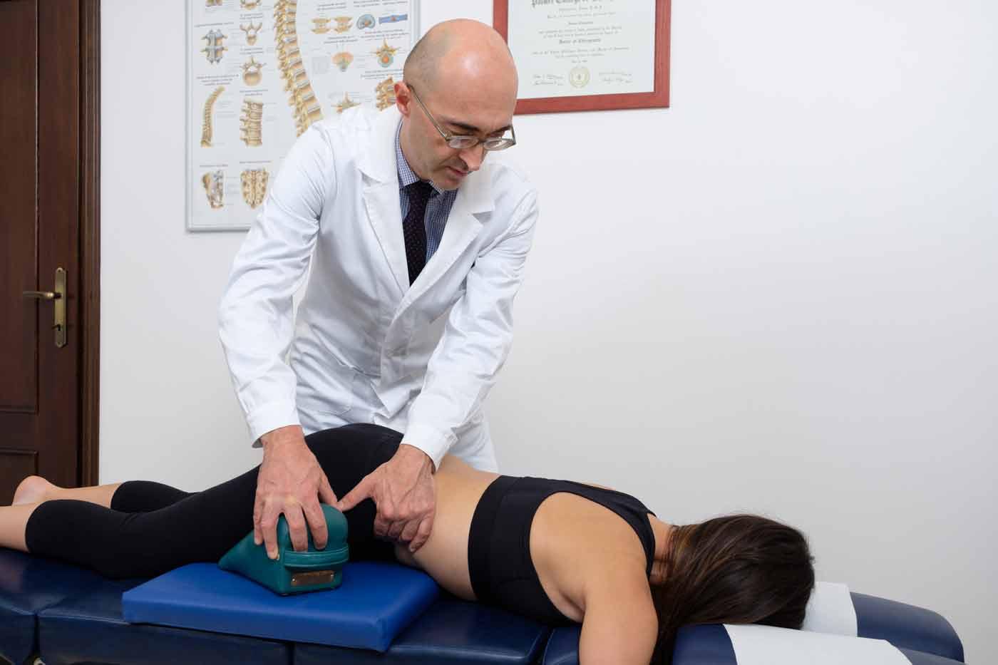 Trattamento con chiropractic corrective blocks