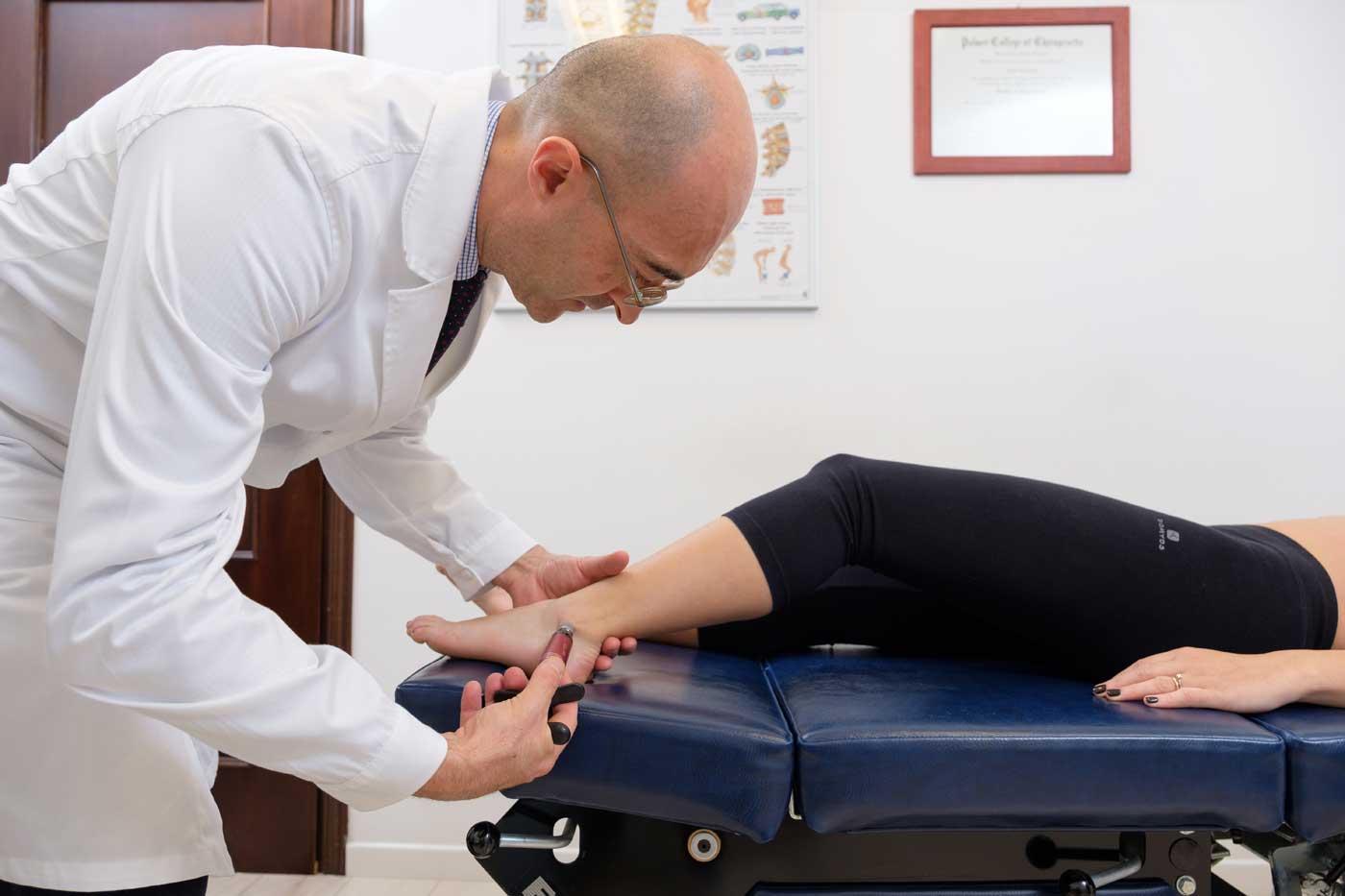 caviglia chiropratica