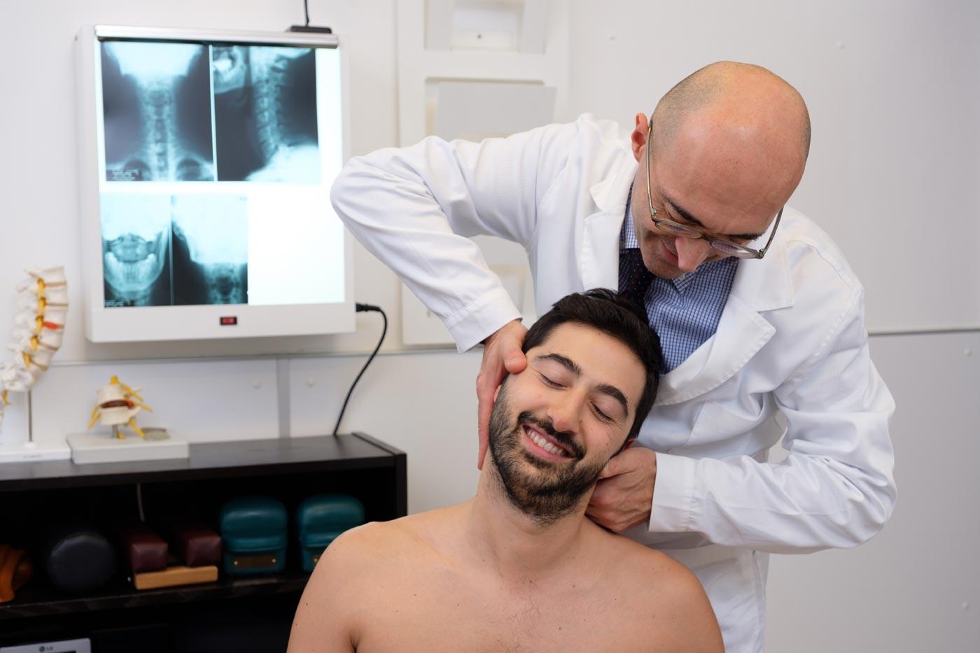 cervicalgia e la cervicobrachialgia chiropratico