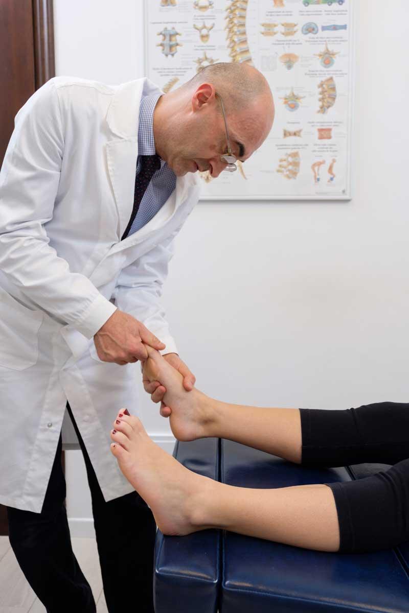 dolore piede chiropratico